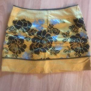 Calypso Silk Side-Zip Mini Skirt